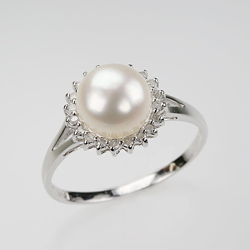 CULTURED PEARL RING 21