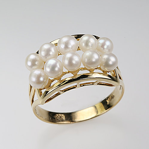 CULTURED PEARL RING 14