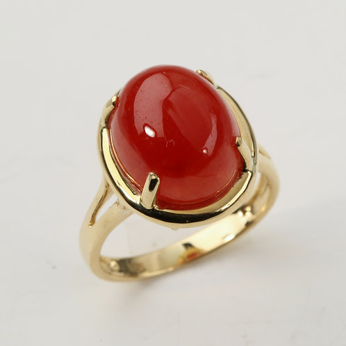 RED JADE RING