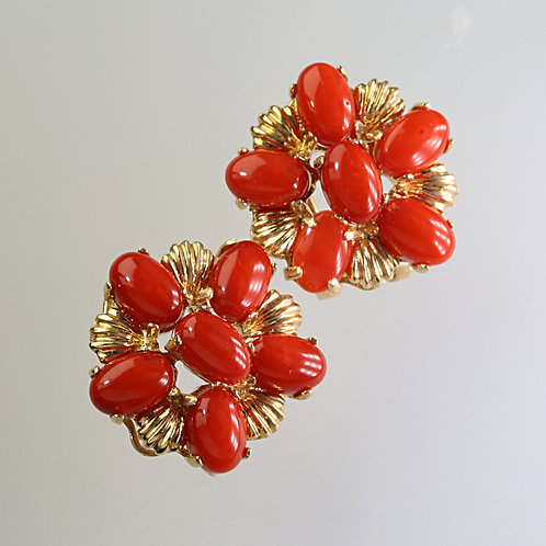 CORAL EARRING 6
