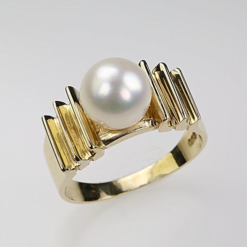 CULTURED PEARL RING 13