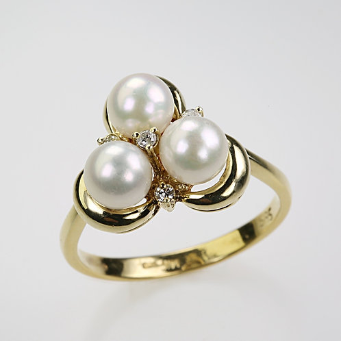 CULTURED PEARL RING 7