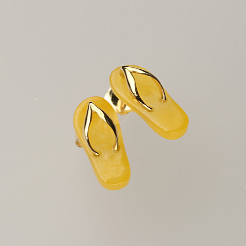 YELLOW JADE EARRING 27