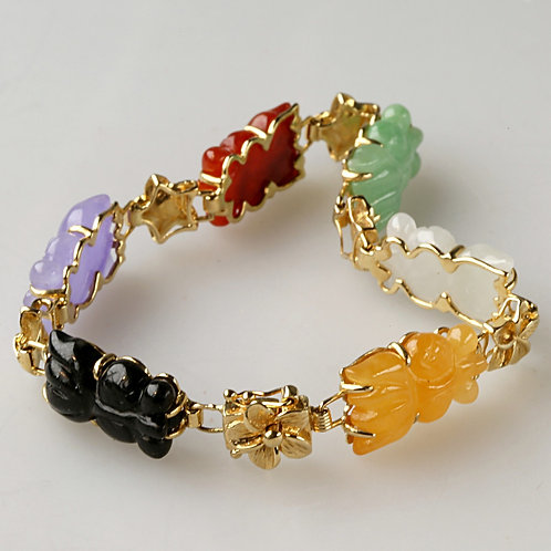 MULTI-COLOR JADE BRACELET