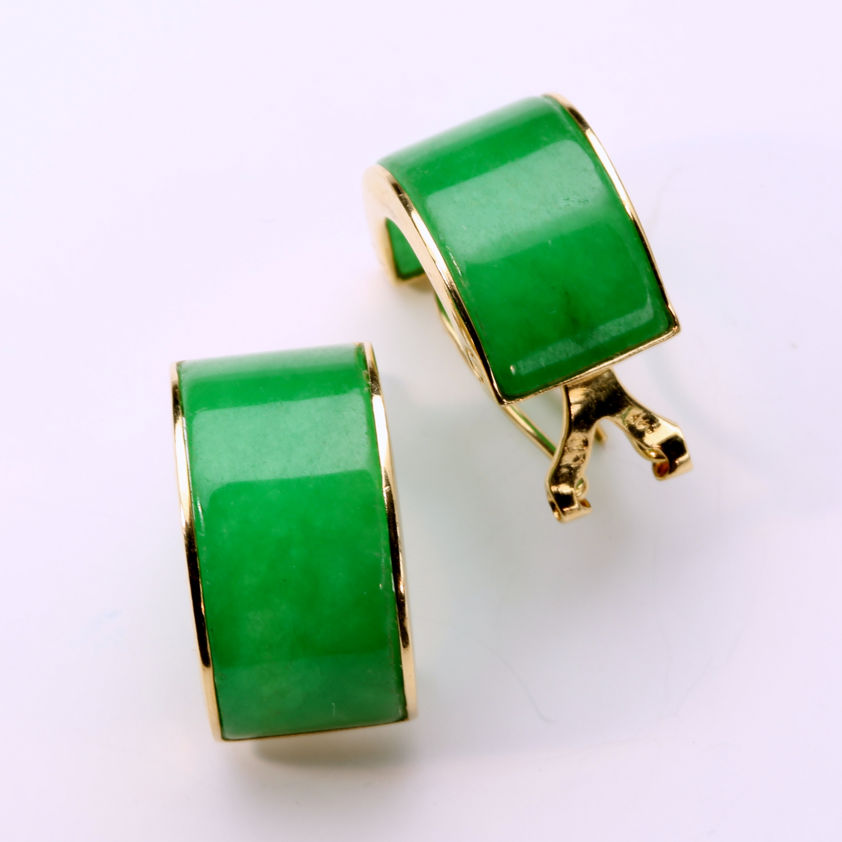 Green Jade Earring