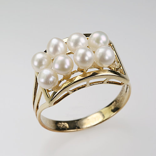 CULTURED PEARL RING 15