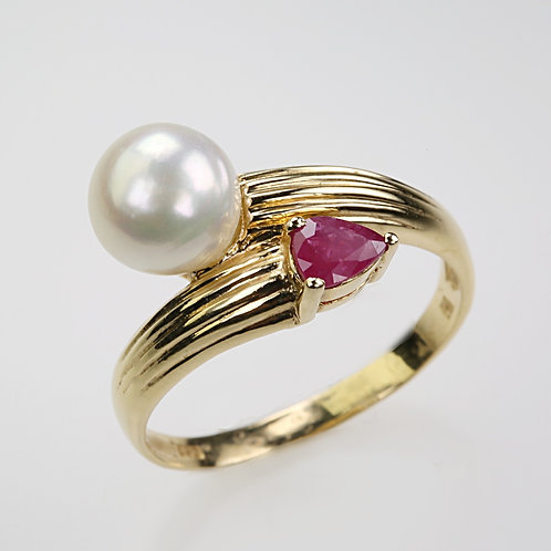 CULTURED PEARL RING 10