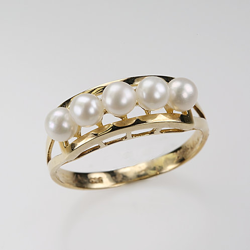 CULTURED PEARL RING 16