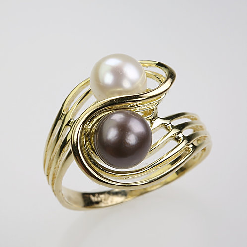 CULTURED PEARL RING 11