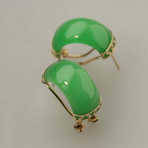 GREEN JADE EARRING 8