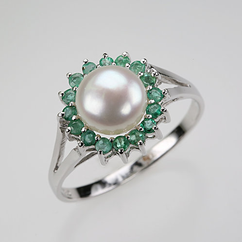 CULTURED PEARL RING 23