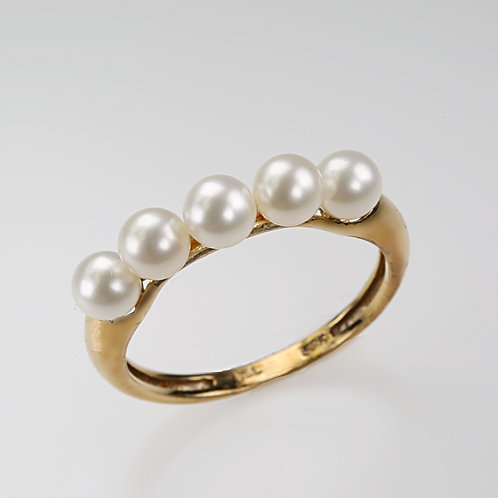 CULTURED PEARL RING 17