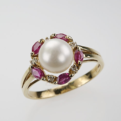 CULTURED PEARL RING 19