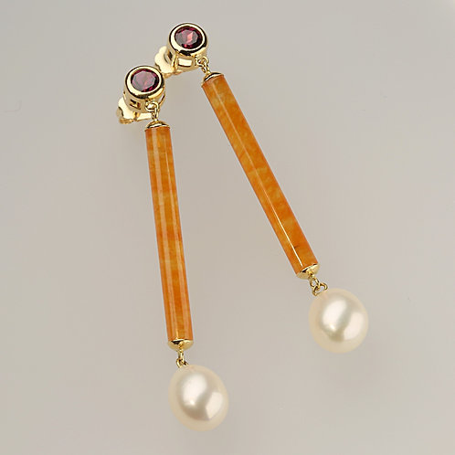 YELLOW JADE EARRING 24