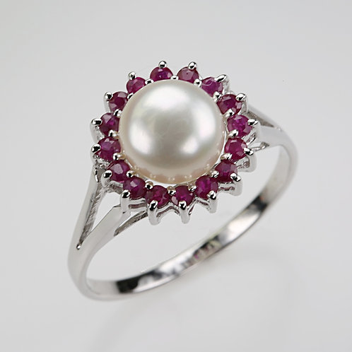 CULTURED PEARL RING 24