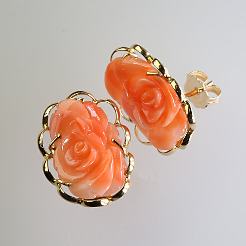 CORAL EARRING 10