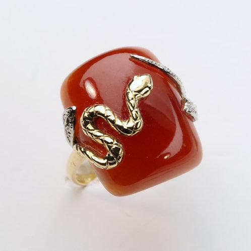 RED JADE RING
