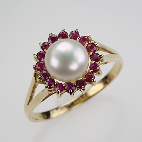 CULTURED PEARL RING 25