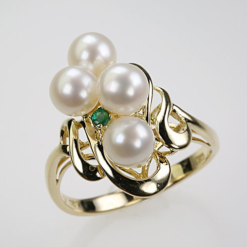 CULTURED PEARL RING 6