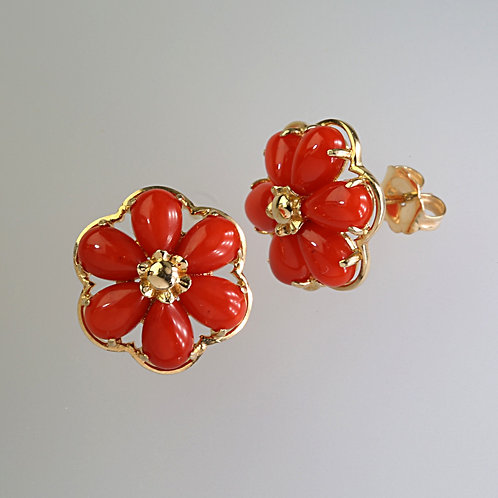 CORAL EARRING 17