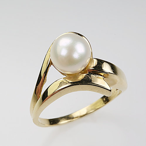 CULTURED PEARL RING 12