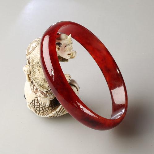RED JADE BANGLE