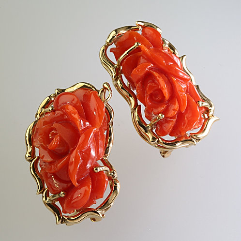 CORAL EARRING 1