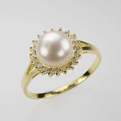 CULTURED PEARL RING 20