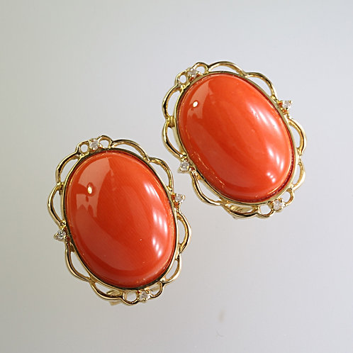 CORAL EARRING 4
