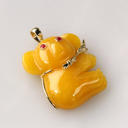 YELLOW JADE PENDANT