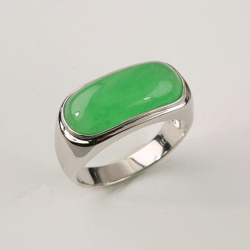 GREEN MAN'S JADE RING