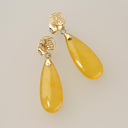 YELLOW JADE EARRING 18