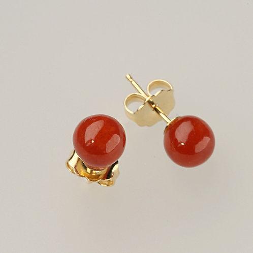RED JADE EARRING 11