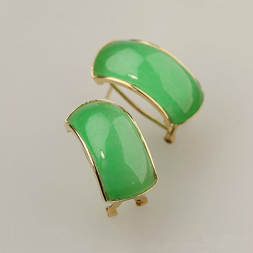 GREEN JADE EARRING 55