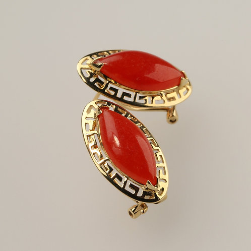 RED JADE EARRING 3