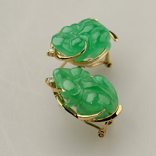 GREEN JADE EARRING 45