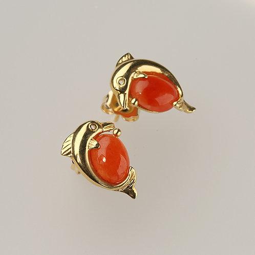 RED JADE EARRING 8