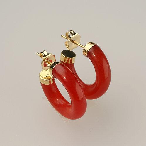 RED JADE EARRING 26