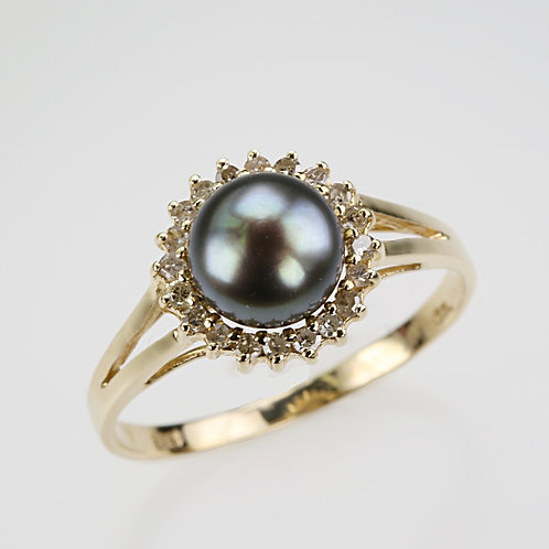 CULTURED PEARL RING 33