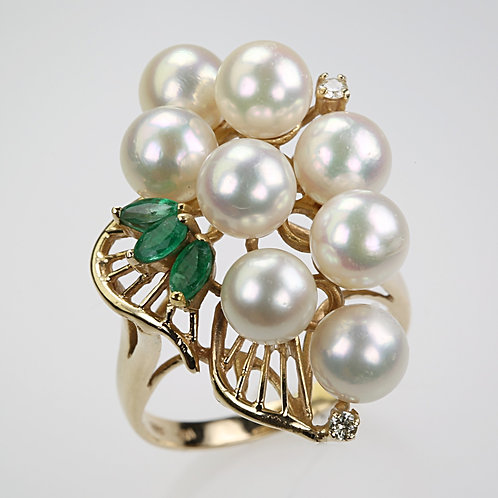 CULTURED PEARL RING 3