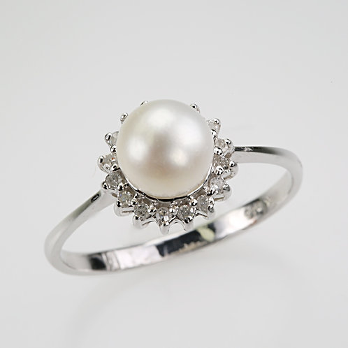 CULTURED PEARL RING 34