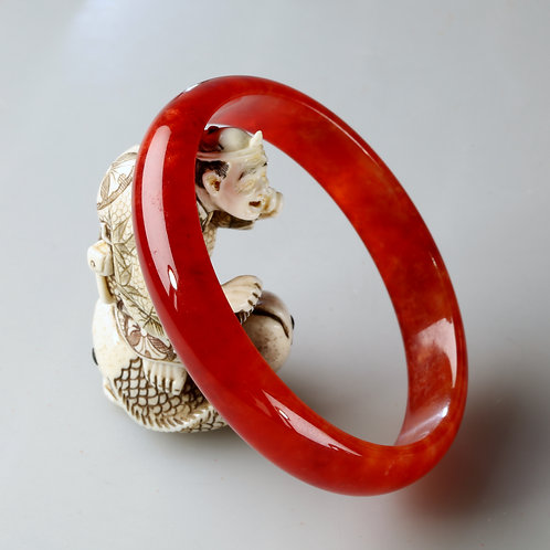 RED JADE BANGLE