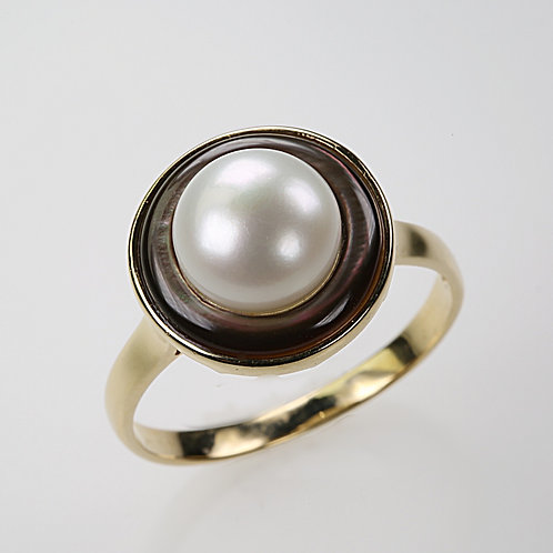 CULTURED PEARL RING 18