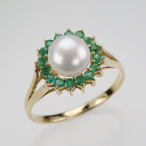 CULTURED PEARL RING 22