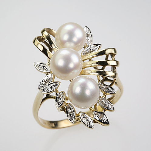 CULTURED PEARL RING 4