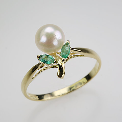 CULTURED PEARL RING 27