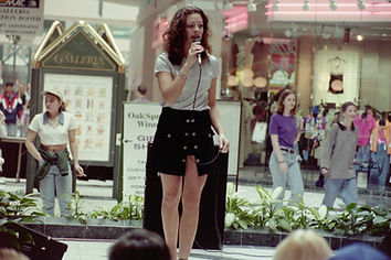 Crystal singing at the Galleria.JPG