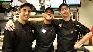 Men working in kitchen