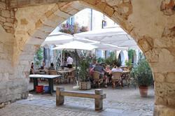 Dining in Monpazier