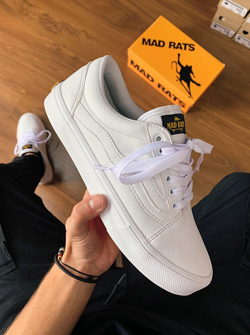 Tênis Mad Rats Old School White Couro 660